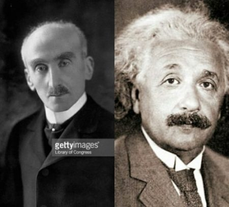 Henri Bergson and Albert Einstein debate the time