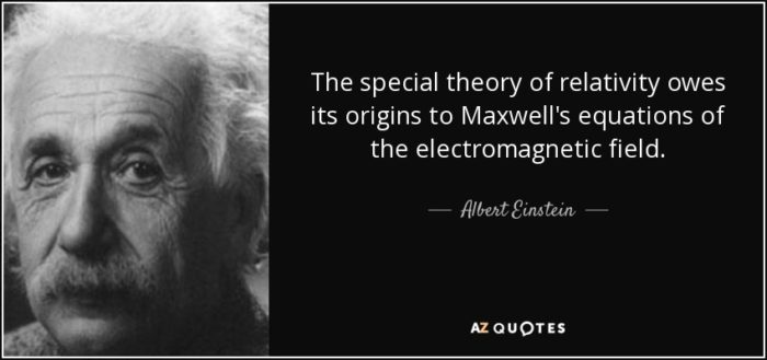 Einstein's Quote about Maxwell's Theory